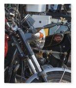 Old Motorbikes Fleece Blanket