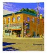Biking By The Bakery On Bank The Glebe Nicastro Foods And David's Tea Ottawa Streetscene Cspandau    Fleece Blanket