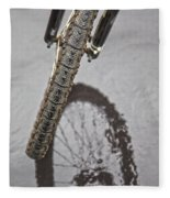 Biking In The Rain Fleece Blanket