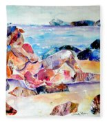 Bikini In Paradise Fleece Blanket