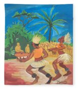 Bikutsi Dance 2 From Cameroon Fleece Blanket