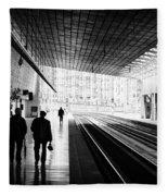 Bilbao Train Station Fleece Blanket