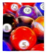 Billiard Balls On The Table Fleece Blanket