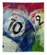 Billiards 10 And 9 Fleece Blanket