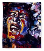 Billie Holiday Jazz Faces Series Fleece Blanket