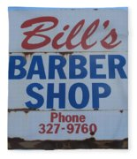 Bill's Barber Shop Fleece Blanket