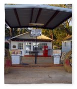 Billy Carters Old Service Station In Plains Georgia Fleece Blanket