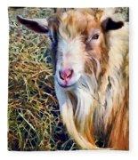 Billy Goat Closeup Fleece Blanket