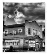 Billy's Restaurant And Walt's Diner - Old Forge New York Fleece Blanket
