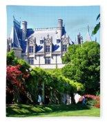 Biltmore House And Gardens Fleece Blanket