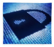 Electronic Data Security Fleece Blanket