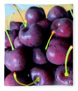 Bing Cherries Fleece Blanket