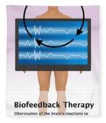 Biofeedback Therapy Fleece Blanket