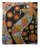 Biological Rhythms.. Fleece Blanket