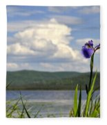 Birch Lake Iris Fleece Blanket