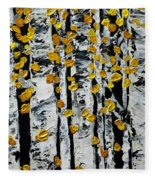 Birch Study Fall Fleece Blanket