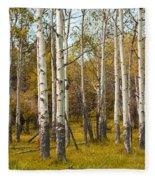 Birch Tree Grove No. 0126 Fleece Blanket