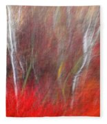 Birch Trees Abstract Fleece Blanket