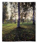 Birch Trees, Imatra, Finland Fleece Blanket