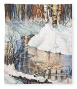 Birch Trio II Fleece Blanket