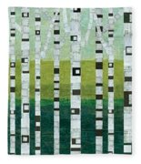 Birches At The Beach Fleece Blanket