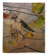 Bird And Berries Fleece Blanket
