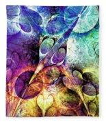 Bird And Flowers Fleece Blanket