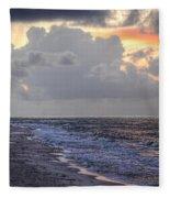 Bird Bath Sunrise Fleece Blanket
