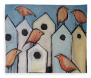 Bird Condo Association Fleece Blanket