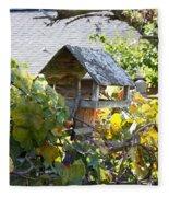 Bird Feeder Amongest The Grapevines Fleece Blanket