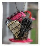 Bird Feeder Wp 06 Fleece Blanket