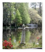 Bird Girl Of Magnolia Plantation Gardens Fleece Blanket