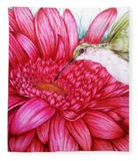 Bird In Bloom Fleece Blanket