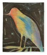 Bird In Gilded Frame Sans Frame Fleece Blanket