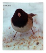 Bird In Snow Fleece Blanket