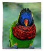 Bird In Your Face  Fleece Blanket