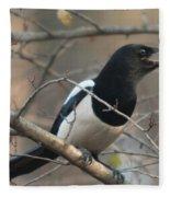 Bird Magpie Fleece Blanket