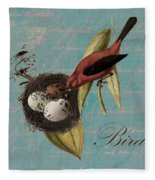 Bird Nest - 02v02t01 Fleece Blanket