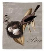 Bird Nest - 02v23c2b Fleece Blanket