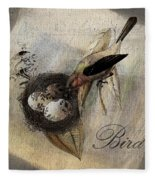 Bird Nest - Sp11ac02 Fleece Blanket