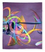 Bird-of-paradise - Abstract Fleece Blanket