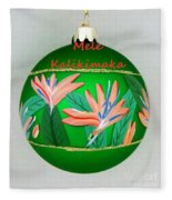Bird Of Paradise Christmas Bulb Fleece Blanket