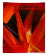 Bird Of Paradise Flower 5 Fleece Blanket