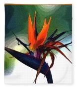 Bird Of Paradise Flower Fragrance Fleece Blanket