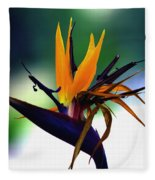 Bird Of Paradise Flower - Square Fleece Blanket
