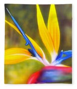 Bird Of Paradise Revisited Fleece Blanket