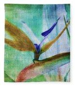 Bird Of Paradise Watercolor Fleece Blanket