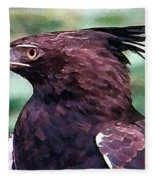 Bird Of Prey In Watercolor Fleece Blanket