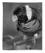 Bird On A Chain Fleece Blanket