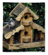 Bird On A House Fleece Blanket